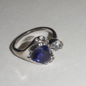 Jewelry - Blue Gemstone Heart Shaped Fashion Ring